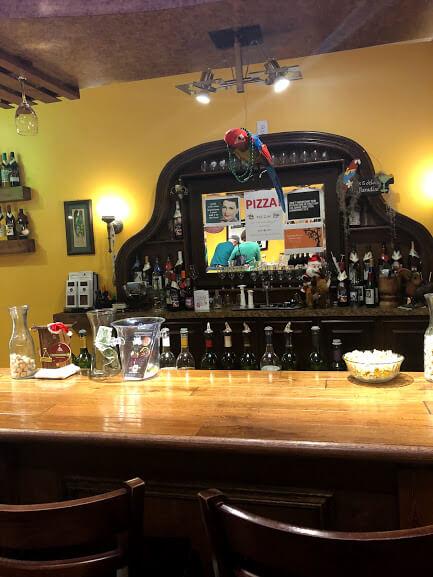 Behind the bar at Harmony Winery