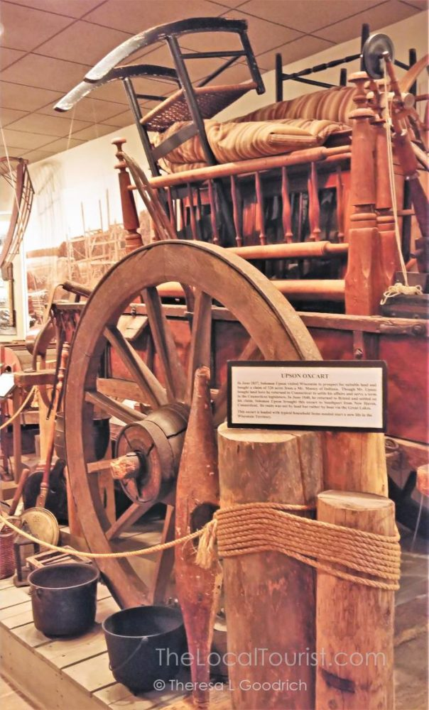 Upson Family Oxcart at the Kenosha Public Museum