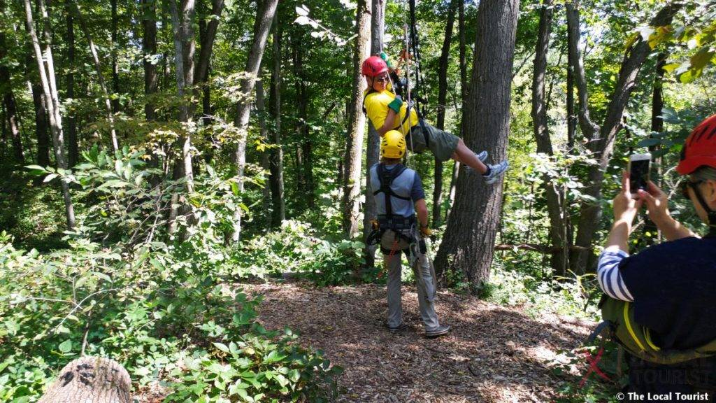 Long Hollow Canopy Tours Rappelling to Forest Floor