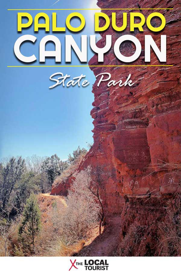 Visit Palo Duro Canyon State Park near Amarillo, Texas, to see the second largest canyon in the United States. | Things to do in Texas | Camping in Texas | Hiking in Texas