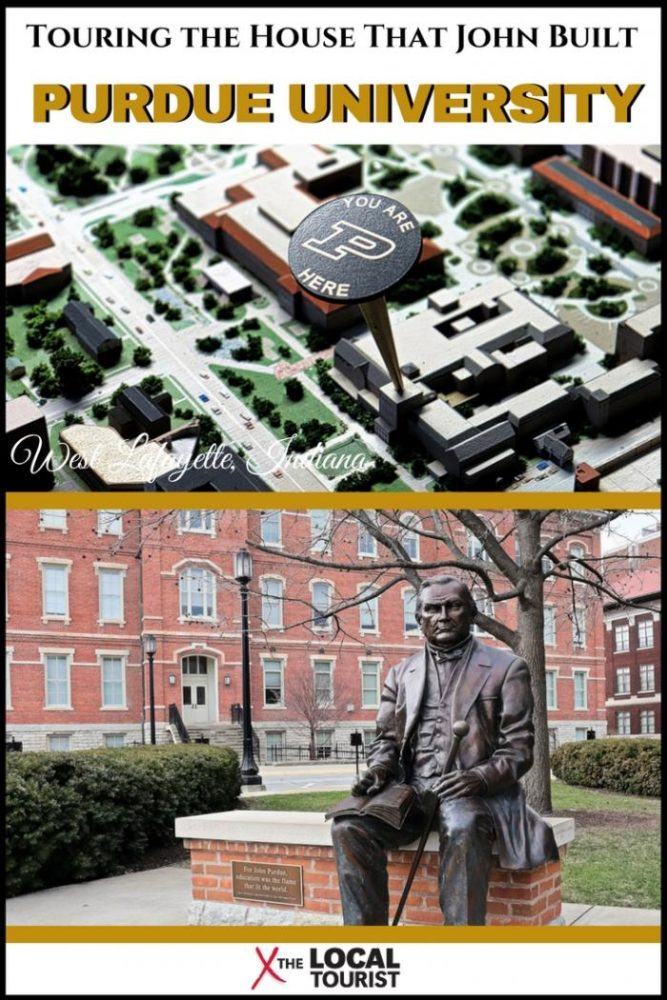 Touring the house that John built - a tour of Purdue University in West Lafayette, Indiana, a US Land Grant university