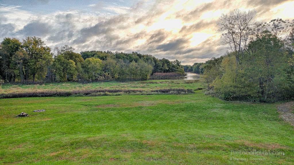 Cedar River flows by Red Cedar Lodge