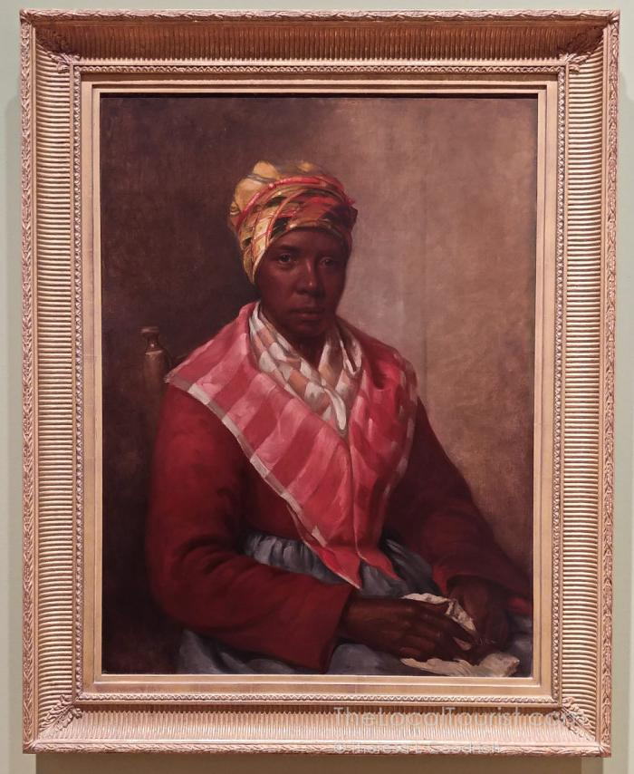 Painting of slave woman at Mississippi Museum of Art