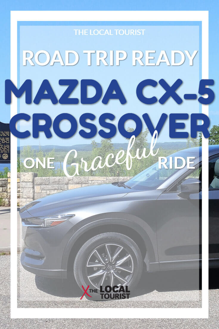 The Mazda CX5 Grand Touring is a graceful vehicle for a road trip with incredible amenities