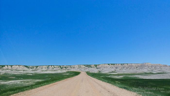 Back road into Badlands National Park