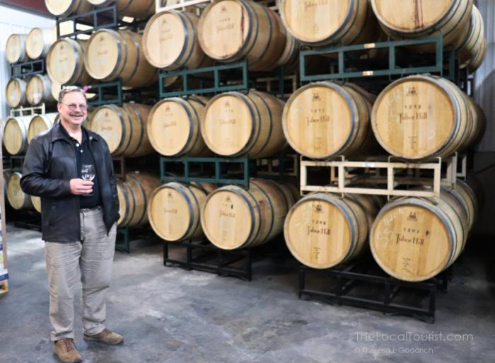 Winemaker Brian Carlson in his element