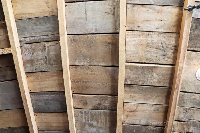 Wooden beams in the roof of Round Barn Winery