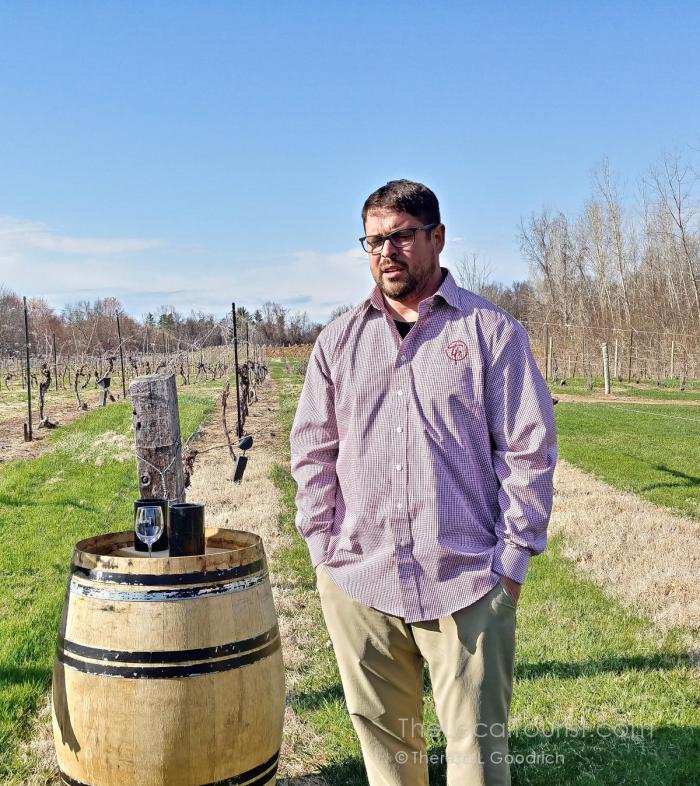 Matt Moersch in the vineyards at Tabor Hill