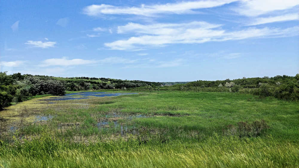 Marshes in Nebraska along the Outlaw Trail Scenic Byway