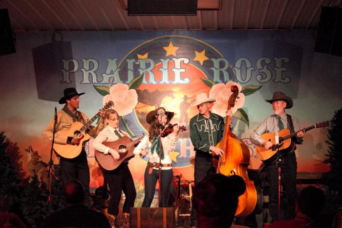Musicians at the Prairie Rose Chuckwagon Supper