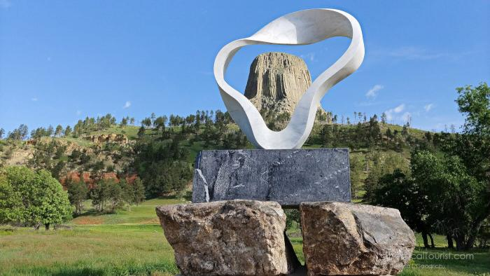 Circle of Sacred Smoke, World Peace Sculpture by Junkyu Muto at Devils Tower National Monument