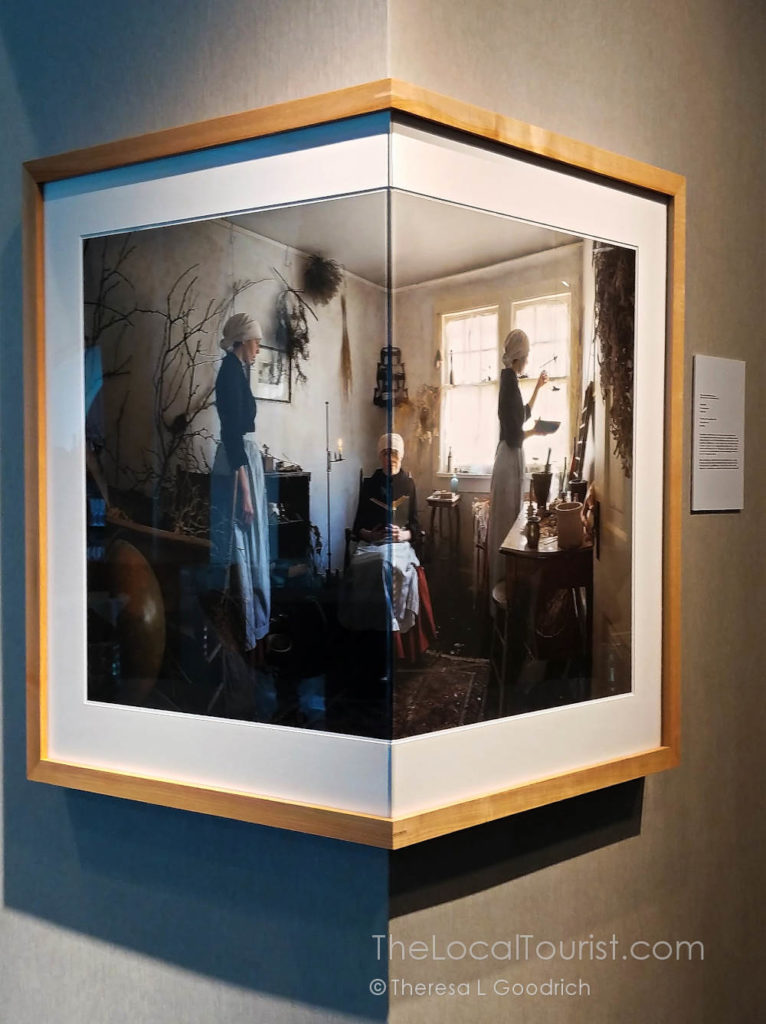 This piece is a sculpture of a photograph of a film of a performance